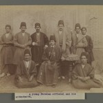 A Young  Persian Officer and His Attendants, One of 274 Vintage Photographs