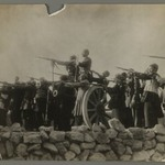 Theatrical Photograph of Soldiers Pointing Guns,  One of 274 Vintage Photographs