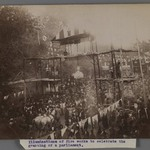 A Crowd of Men and Women gathered to Celebrate the Granting of a Constitution III,  One of 274 Vintage Photographs