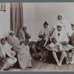 Harem Scene with Mothers and Daughters in Varying Costumes, One of 274 Vintage Photographs