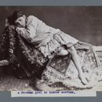 Young Girl Lying Down on Kilim, One of 274 Vintage Photographs