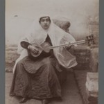 Woman Seated Playing 6-string Persian Lute, One of 274 Vintage Photographs
