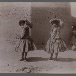 Two Women Carrying Clay Jugs Not Wearing Tights, one of 274 Vintage Photographs