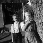 Larry and Linda, Lamona Washington, from The Graven Image Series, Hutterite Work