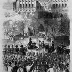 The Inaugural Procession at Washington Passing the Gate of the Capitol Grounds