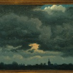 Stormy Sky over Landscape with Distant Church