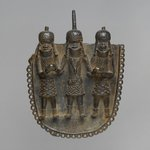 Waist Pendant with Oba and Two Attendants