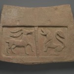 Tile Relief with Antelope and Lion