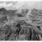 Aerial View: Looking  South at Mt. St. Helens Crater and Iowa Dome