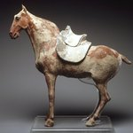 Figure of a Horse with Saddle
