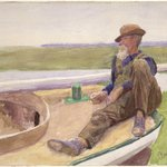 Recto: [Untitled] (Man in Boat) 