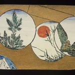 Small Card Decorated with Landscape Motifs (recto) and Stylized Chrysanthemums (verso)