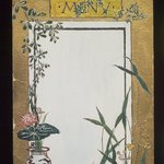 Menu Card Decorated with Bamboo and Flowers
