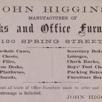 Business Card, John Higgins, 130 Spring Street
