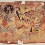 Deities Battle a Tiger