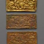 Three rectangular plaques