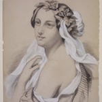 Portrait of a Woman Adorned with a Wreath of Leaves