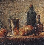 Seville Orange, Silver Goblet, Apples, Pear and Two Bottles, after Chardin (Pictures of Magazines)