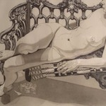 Nude on a Silver Bench