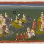 Maharana Sangram Singh of Mewar Riding in an Elephant Procession