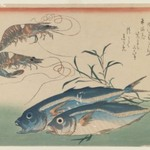 Two Shrimp with Two Horse Mackerel