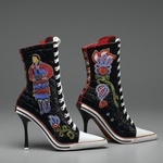 Beaded High Heeled Shoes, &quot;Great Lakes Girls&quot;