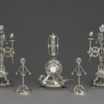 Candlestick, Part of a Five Piece Clock Garniture