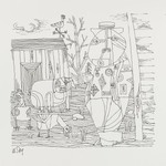 [Untitled] (Farmer - Lines - Pig and Chicks)