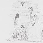 [Untitled] (Three Figures, Head Floating)