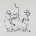 [Untitled] (Painter and Skull)