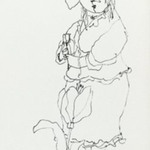 [Untitled] (Woman and Flower)