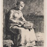 Woman Carding Wool (La Cardeuse)