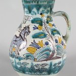 Pitcher with Scene Depicting a Figure Steering a Horse Drawn Plough, Habanware