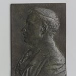 Portrait Plaque of Childe Hassam