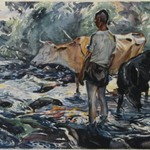 Boy with Cows