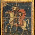 Man and Child Mounted on Horse