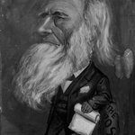 Caricature of William Cullen Bryant