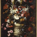 Flowers in a Figured Vase
