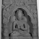 Crowned Buddha Seated in a Niche
