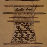Backstrap Loom with Unfinished Textile