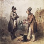 Napoleon Standing with a Soldier