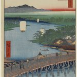 Senju Great Bridge, No. 103 from One Hundred Famous Views of Edo