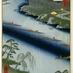 The Kawaguchi Ferry and Zenkoji Temple, No. 20 in One Hundred Famous Views of Edo