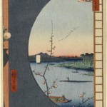 View From Massaki of Suijin Shrine, Uchigawa Inlet, and Sekiya, No. 36 in One Hundred Famous Views of Edo