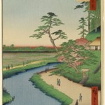 Bashos Hermitage and Camellia Hill on the Kanda Aqueduct at Sekiguchi, No. 40 in One Hundred Famous Views of Edo