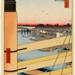 Nihonbashi Bridge and Edobashi Bridge (Nihonbashi to Edobashi), No. 43 from One Hundred Famous Views of Edo