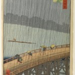 Sudden Shower Over Shin-Ohashi Bridge and Atake (Ohashi Atake no Yudachi), No. 58 from One Hundred Famous Views of Edo