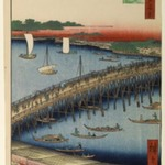 Ryogoku Bridge and the Great Riverbank, No 59 from One Hundred Views of Edo