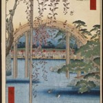 Inside Kameido Tenjin Shrine (Kameido Tenjin Keidai), No. 65 from One Hundred Famous Views of Edo