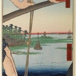 Haneda Ferry and Benten Shrine (Haneda no Watashi Benten), No. 72 from One Hundred Famous Views of Edo